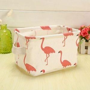 Other - Boutique linen table top box flamingo
